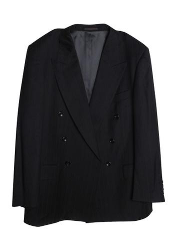 Hugo Boss 黑色 hugo boss 兩件式羊毛西服 4D82EAA16AE350GS_1