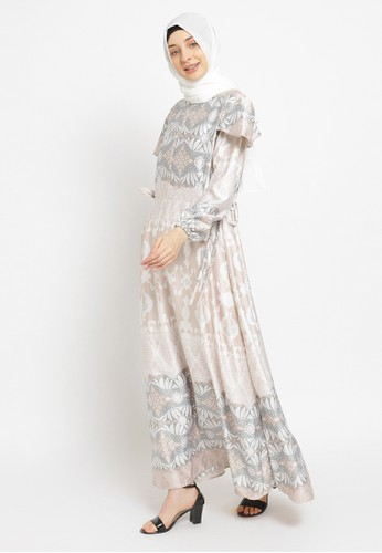Emikoawa brown Dress Malika Cream 811FFAAE8DE881GS_1