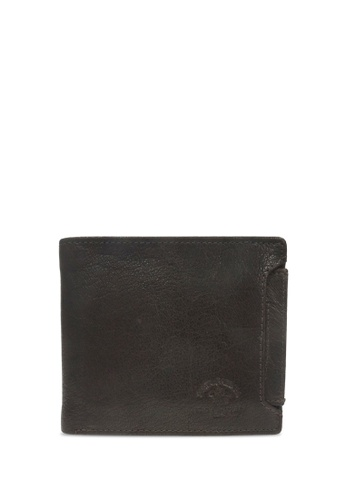 Santa Barbara Polo & Racquet brown Santa Barbara Polo & Racquet Club Leather Bifold Wallet with Additional Card Holders 4A5A4ACE9A6077GS_1
