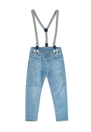 LC Waikiki blue Boy's Jeans and Suspenders 634B6KACB8758FGS_1