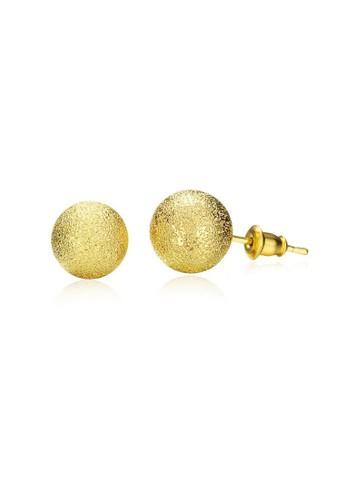 Tiaria yellow Tiaria Popular Round Earrings Gold Coated Aksesoris Perhiasan Anting AKE060-D--K10 2781BAC0C7ECC8GS_1