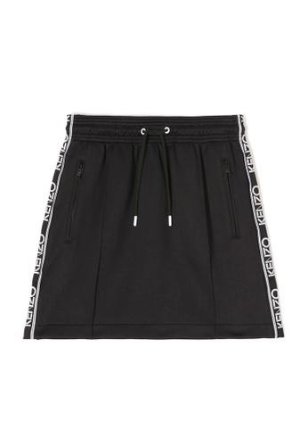 Kenzo black Kenzo Logo Print Skirt in Black FFAD3AA345F3F2GS_1