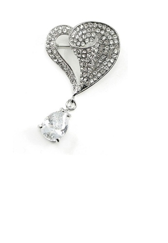 Glamorousky silver Elegant Brooch with Austrian Element Crystals 497A7ACB1F32FDGS_1