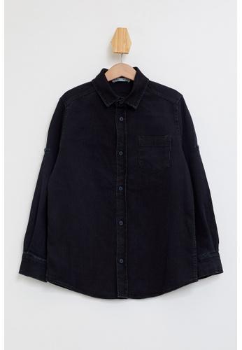 DeFacto blue Long Sleeve Cotton Denim Shirt BC3C9KAC1DB3EFGS_1