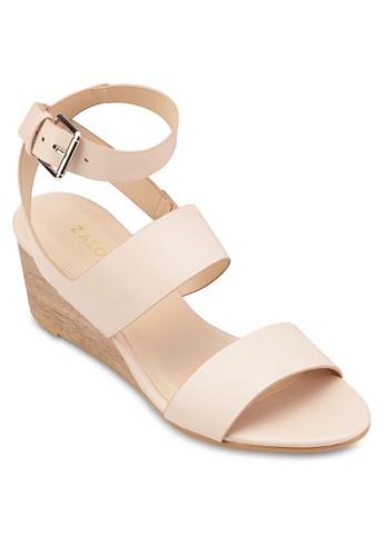交叉踝帶中跟楔型跟涼鞋、 女鞋、 鞋ZALORA交叉踝帶中跟楔型跟涼鞋最新折價
