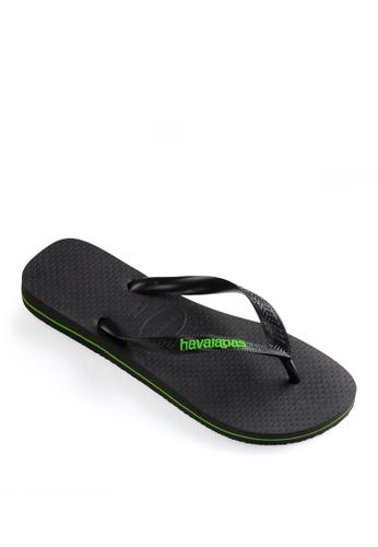Havaianas black Logo Filete Flip Flops 8989BSH71534AFGS_1