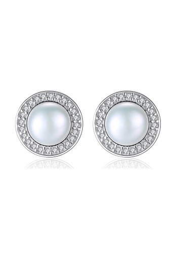 A.Excellence white Premium White Pearl Elegant Earring 59262AC4FD7DB7GS_1