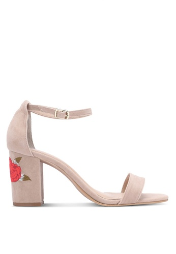 Christy Ng beige Baby Blossom Nude Embroidery Heels CH330SH0RXPCMY_1