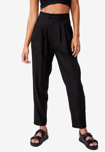 Cotton On black Ultimate Pleat Pants 55536AA081934CGS_1