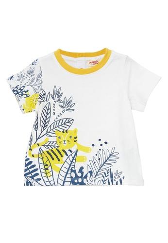 Du Pareil Au Même (DPAM) white Tiger Print T-Shirt 491E6KA08E73E4GS_1