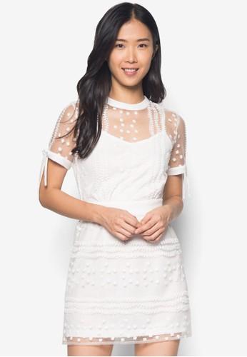 Marrel 鉤花洋裝, 服飾zalora 包包 ptt, 短洋裝