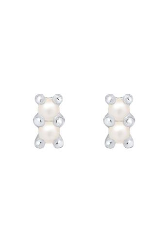 ELLI GERMANY silver Earrings Earstuds Pearl Crystal ED296ACA88E6ECGS_1