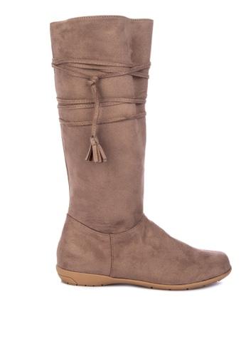 S&H brown Zelida Boots 66777SHDB29EABGS_1
