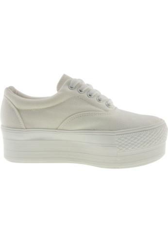 Maxstar white Maxstar Women's C50 5 Holes Platform Canvas Low Top Sneakers US Women Size MA164SH56PSDSG_1
