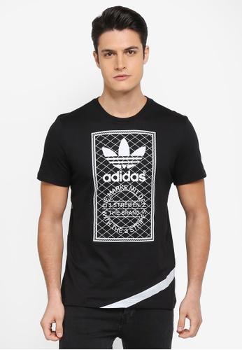 adidas black adidas originals d short sleeve tee AD372AA0SUNWMY_1