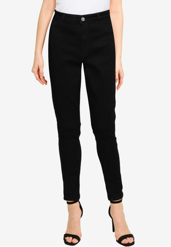 MISSGUIDED black Black Vice Jeans With Belt Loops C14F7AAFC8E937GS_1