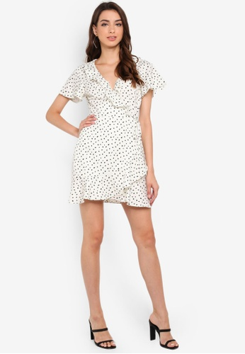 66d1348d0 Buy MISSGUIDED Spot Print Frill Wrap Dress | ZALORA HK