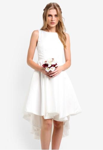 ZALORA white Bridesmaids Structured High Low Dress C94DCZZ704F066GS_1