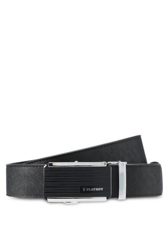 Playboy black Playboy 35mm Automatic Belt PL371AC0SK1IMY_1