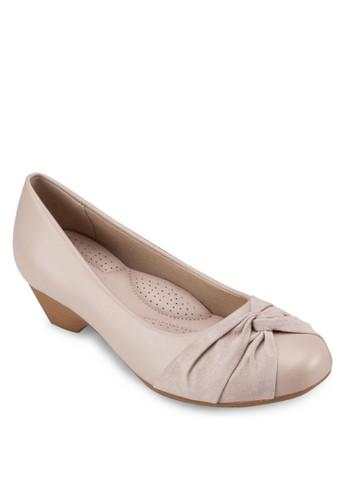 扭結圓頭中跟楔型鞋, 女鞋, zalora taiwan 時尚購物網鞋子鞋