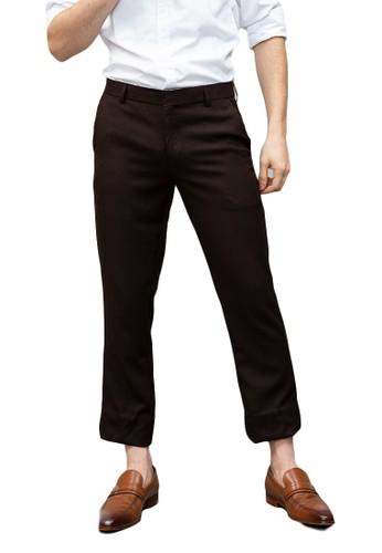 House of Cuff brown Houseofcuff Celana Ankle / Cropped Pants Slim fit Celana kerja bahan / Sirwal Coklat F24D7AAF29C020GS_1