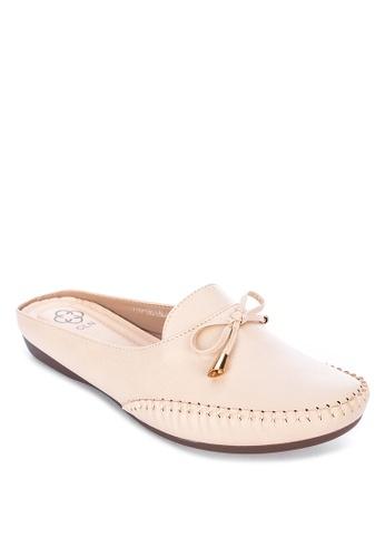 CLN beige Benalla Mule Loafers 6CE8FSH343A815GS_1