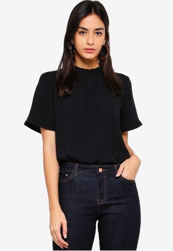 ESPRIT black Woven Short Sleeve Top 16E0BAAE5BE90CGS_1