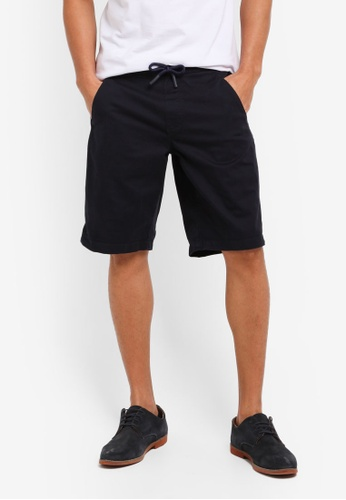 ESPRIT navy Woven Regular Shorts CAFD5AA3C49E59GS_1