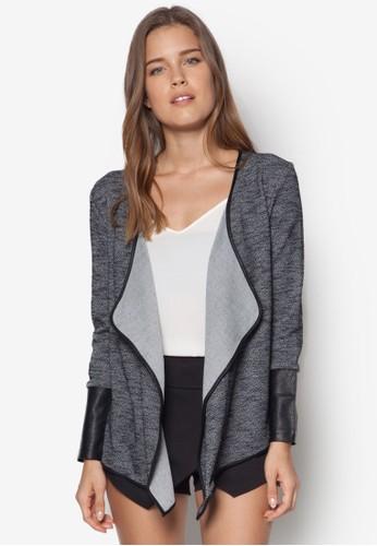 Love 仿皮滾邊開襟外套, 服飾, 毛衣&ampzalora 折扣碼; 針織外套