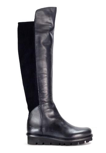 Shu Talk black Wonders Comfy Leather Knee-High Boots CFAF6SH5E4496FGS_1