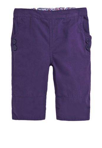 JoJo Maman Bébé purple Twill Clamdiggers Pants 785F5KA5D2E618GS_1