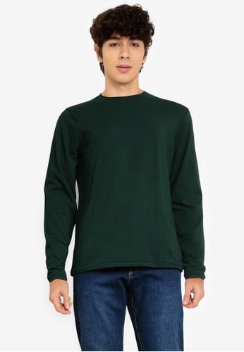 OVS green Plain Sweatshirt B3818AA27AE8F3GS_1