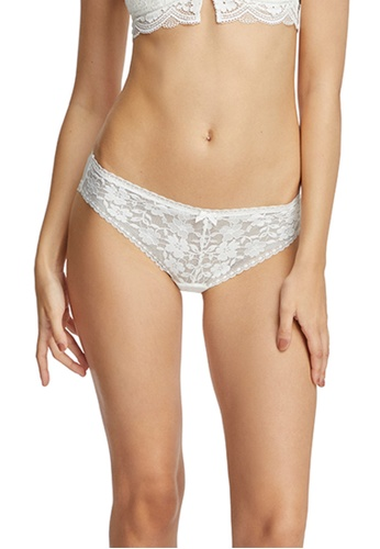 6IXTY8IGHT white Lace Low-rise Cheeky Panty PT09001 863F5US8E7E87EGS_1
