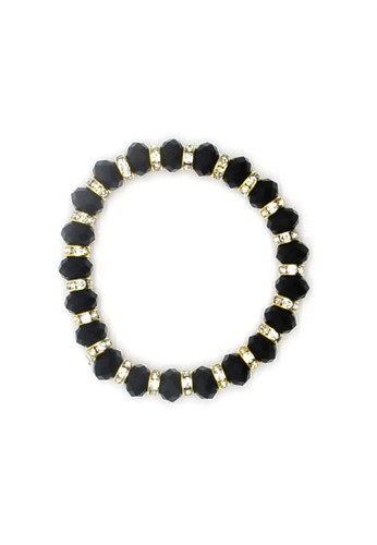 Istana Accessories Gelang Revina Crystal Bracelet Fashion - Black