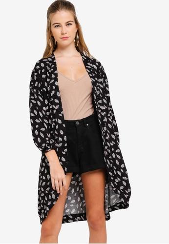 Something Borrowed black Kimono With Balloon Sleeves 9052CAADAAD62FGS_1