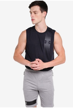 bd5a2ee16a605 Under Armour black Threadborne Graphic Muscle Tank Top C5C3CAA8B5FDF9GS 1