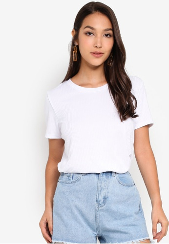 Pieces 白色 短袖T恤 DA4EAAA5F489F1GS_1