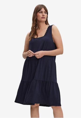 Vero Moda navy Plus Size Alice Short Dress 129D7AA6F91C90GS_1