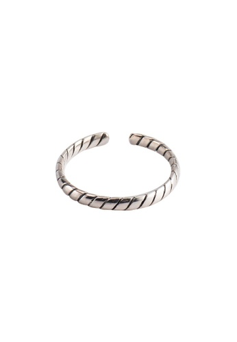 OrBeing 白色 Premium S925 Sliver Wave Ring 91468AC5295619GS_1