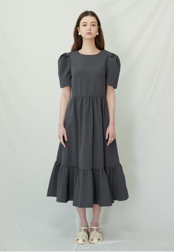 TAV [Korean Designer Brand] Victoria Dress - Grey 3B915AA82187DAGS_1