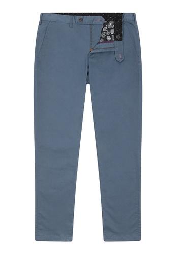 TED BAKER blue Slim Fit Plain Chino 23CAAAA061BDB4GS_1