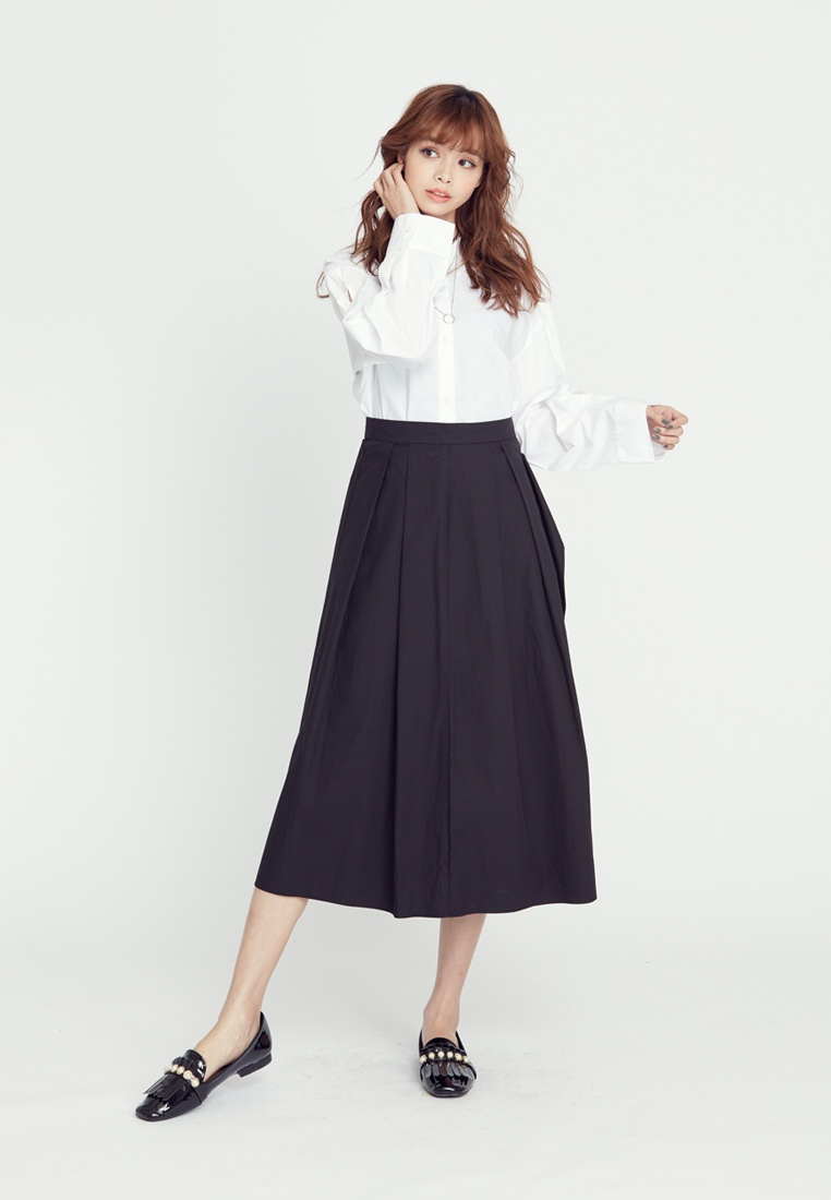 White Detail H Color Solid CONNECT Backless Shirt vxwU4Z