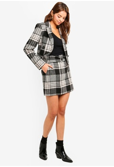 d670c2edb65 10% OFF Miss Selfridge Multi Colour Brushed Check Blazer HK  560.00 NOW HK   503.90 Sizes 6 8 10 12 14