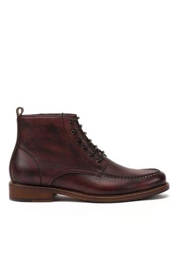 Twenty Eight Shoes Vintage Full Grain Leather Brogue Boot 618-51 A1D64SH59D9336GS_1