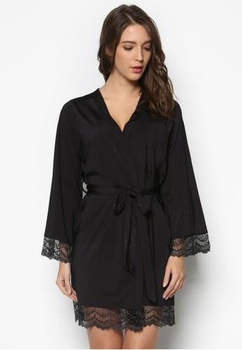 esprit女裝蕾絲拼接裹飾睡袍, 服飾, 外套