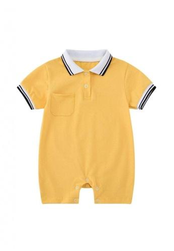 RAISING LITTLE yellow Oscare Romper 7DF59KAF56B60AGS_1