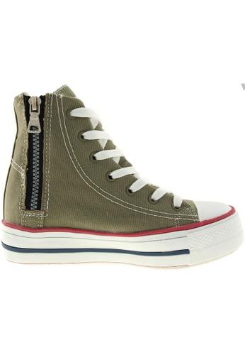 Maxstar green Maxstar Women's C7 7 Holes Lines Hidden Heel Platform Canvas Sneakers US Women Size MA164SH76PZBSG_1