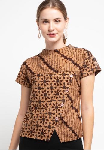 Batik First brown Blouse Sumire Cut&Sew 5747FAAADDD182GS_1