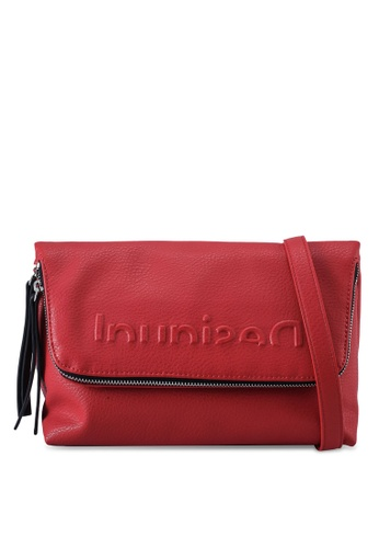 Desigual red Logo Embossed Crossbody Bag 6957AACA37EDA0GS_1