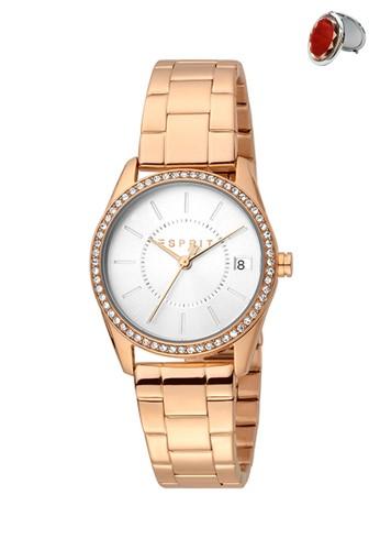 Esprit Watches pink and gold Jam Tangan Esprit Jam Tangan Wanita ES1L195M0105 Original ABF8DACB3CC1F9GS_1